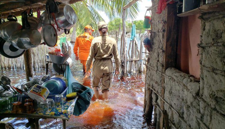 CBMMA e Defesa Civil trabalham em municípios afetados pelas chuvas no Maranhão