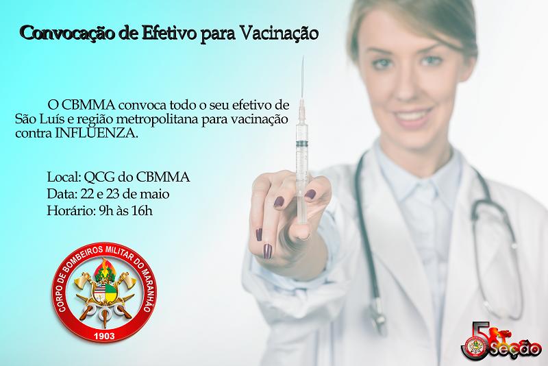 Convocação de efetivo para vacinação.