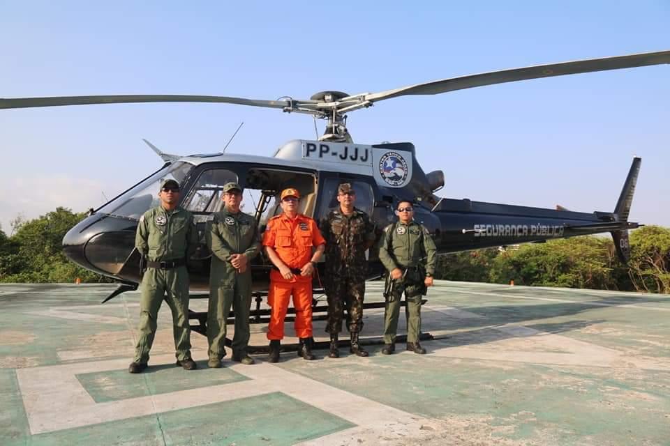 Corpo de Bombeiros Militar do Maranhão, Centro Tático Aéreo e Exército fazem sobrevoo para prevenir e combater queimadas no Maranhão