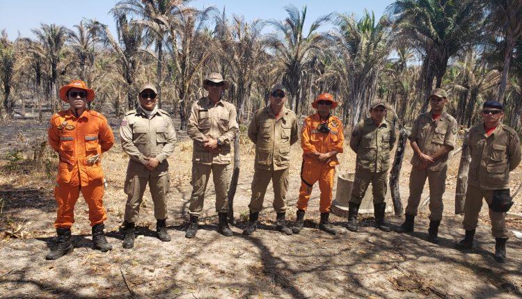 Bombeiros reforçam o combate a incêndios no interior do Estado