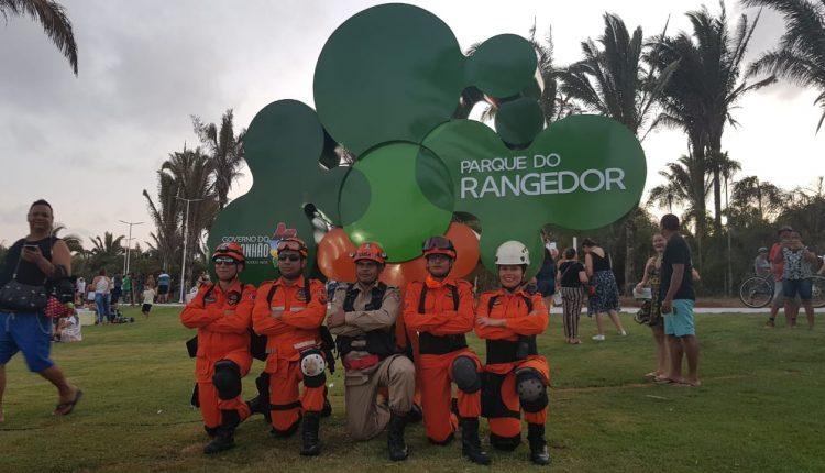 Bombeiros integram equipe de segurança na inauguração do Parque do Rangedor