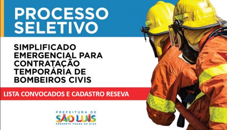 CONTRATAÇÃO TEMPORÁRIA DE 150 BOMBEIROS PROFISSIONAIS CIVIS (PREFEITURA DE SÃO LUÍS-MA)