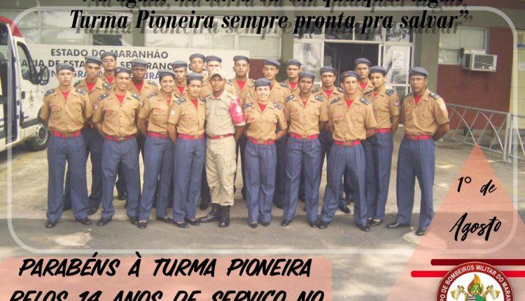 TURMA PIONEIRA DA ABMJM COMPLETA 14 ANOS